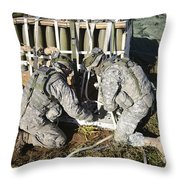 U.s. Army Europe Soldiers Perform Throw Pillow