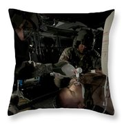 U.s. Army Medics Simulating Ventilation Throw Pillow