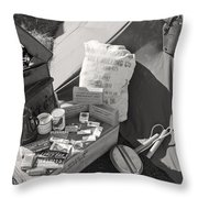 Us Army Rations Throw Pillow