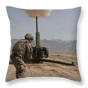 U.s. Army Soldier Fires A 122mm Throw Pillow