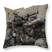 U.s. Army Soldiers Set Up A Tactical Throw Pillow