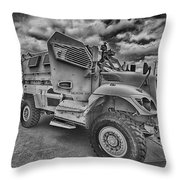 Us Army Troop Carrier Throw Pillow