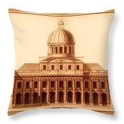 U.s. Capitol Design 1791 Throw Pillow