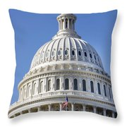 Us Capitol Dome Throw Pillow
