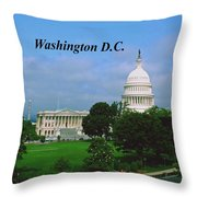 U.s. Capitol Throw Pillow