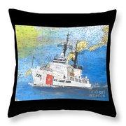 Us Coast Guard Cutter Munro Nautical Chart Cape San Blas Lighthouse Fl Nautical Chart Cathy Peek Throw Pillow