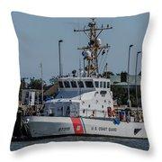 Us Coast Guard Yellowfin Throw Pillow