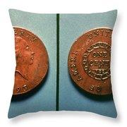 U.s. Coin, 1793 Throw Pillow