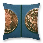 U.s. Currency, 1796 Throw Pillow