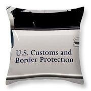 U.s. Customs And Border Protection Throw Pillow
