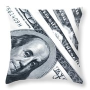 Us Dollar Bills  Throw Pillow