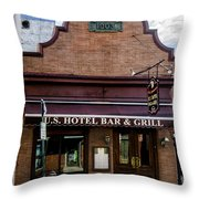 Us Hotel Bar And Grill - Manayunk  Throw Pillow