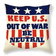 U.s. Isolationism, 1940s Throw Pillow