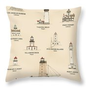 Lighthouses Of The West Coast Throw Pillow