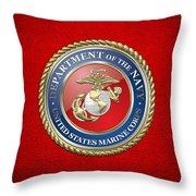 U. S. Marine Corps - U S M C Seal  Throw Pillow