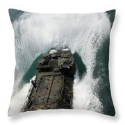 U.s. Marines Drive An Assault Throw Pillow