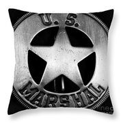 Us Marshal Throw Pillow by John Rizzuto