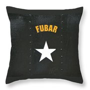 Us Military Fubar Throw Pillow by Thomas Woolworth
