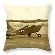 U.s. Military Recon Single Engine Plane Throw Pillow
