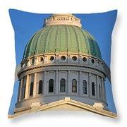 Us, Missouri, St. Louis, Courthouse Throw Pillow