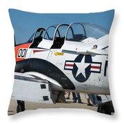 Us Navy Plane 001 Throw Pillow