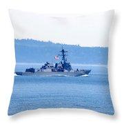U.s. Navy Ship Throw Pillow
