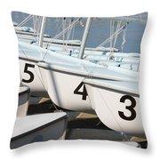 Us Navy Training Sailboats I Throw Pillow