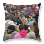 U.s. Senator John Kerry, Amidst Throw Pillow