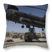 U.s. Soldiers Attach Sling Load Ropes Throw Pillow