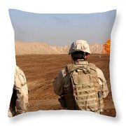 U.s. Soldiers Detonate A Test Explosion Throw Pillow