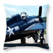Us Ww II Fighter Plane Throw Pillow
