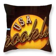 Usa Brooklyn Throw Pillow