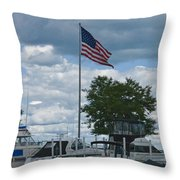 Usa Flag 10 Throw Pillow