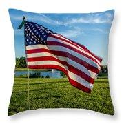 Usa Flag Throw Pillow by Phyllis Bradd