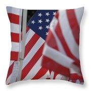 Usa Flags 01 Throw Pillow