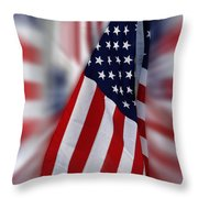 Usa Flags 03 Throw Pillow