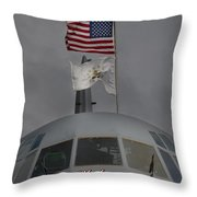 Usa In Africa Throw Pillow