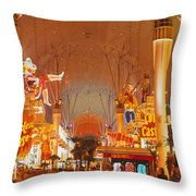 Usa, Nevada, Las Vegas, Night Throw Pillow