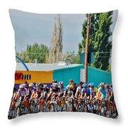 Usa Pro Challenge Bike Race Montrose Colorado Throw Pillow