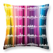 Usa Skylines 2 Throw Pillow