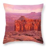 Usa, Utah, Canyonlands National Park Throw Pillow