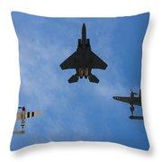 Usaf Heritage Flight Throw Pillow