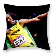Usain Bolt Sweet Victory II Throw Pillow