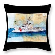 Uscg Alert Coast Guard Chart Map Art Peek Throw Pillow