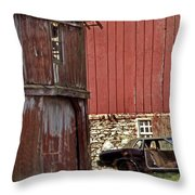 Used Car Lot Throw Pillow