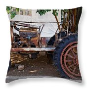 Used Tractor Throw Pillow