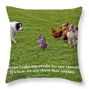 Using Talents Throw Pillow