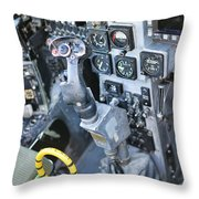 Usmc Av-8b Harrier Cockpit Throw Pillow
