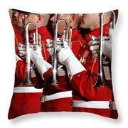Usmc Band Throw Pillow