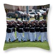 Usmc Silent Drill Platoon Throw Pillow